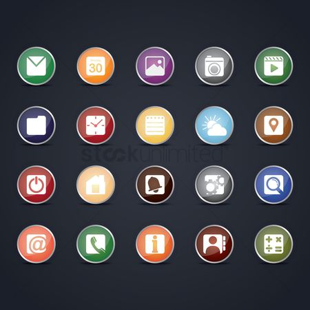 Tips : Set of mobile icons