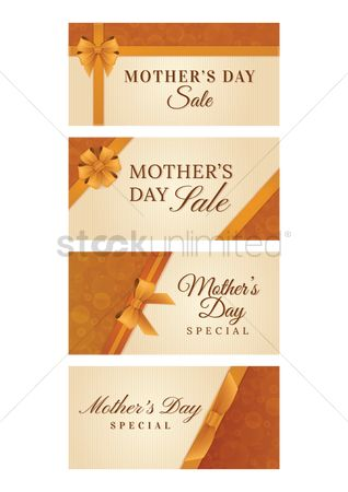 Mothers day : Set of mothers day sale designs