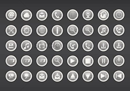 Power button : Set of multimedia icon
