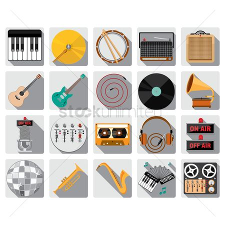 Jack : Set of music icons