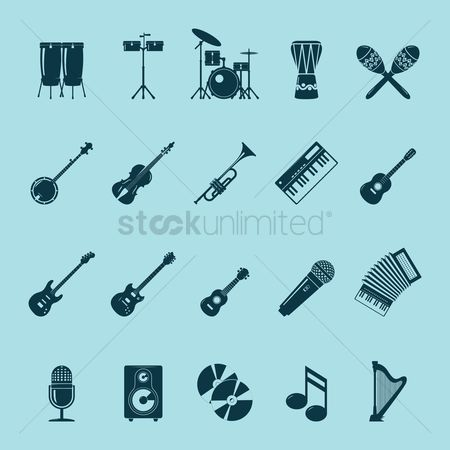 Speaker : Set of musical instruments
