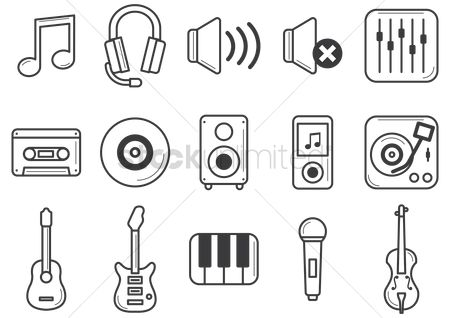 Volume : Set of musical instruments