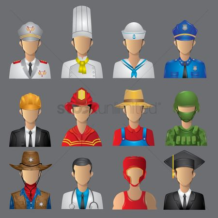 Character : Set of occupation icons
