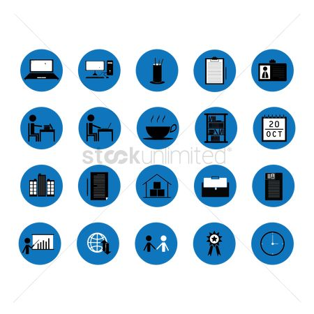 Office  building : Set of office icons