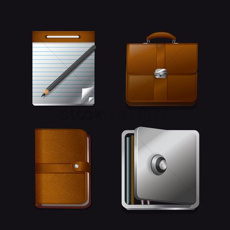 Pad : Set of office icons