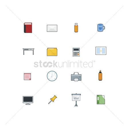 Highlighter : Set of office icons