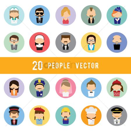 Priest : Set of people icons