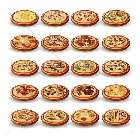 Junk food : Set of pizzas