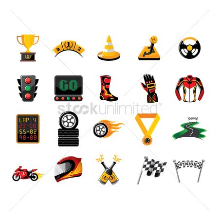 Medal : Set of race icons