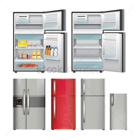 Appliances : Set of refrigerators