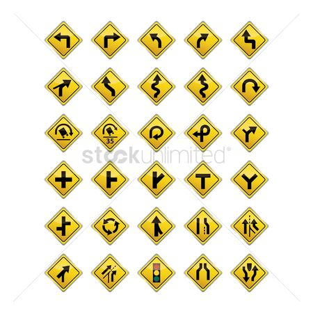 Transport : Set of road sign icons