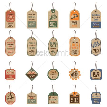 Discounts : Set of sale tags