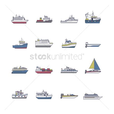 Vessel : Set of ship icons