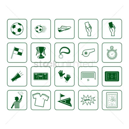 Medal : Set of soccer icons