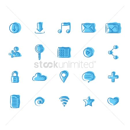 Favourites : Set of social media icon