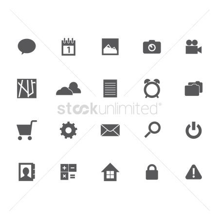 Temperatures : Set of social media icons