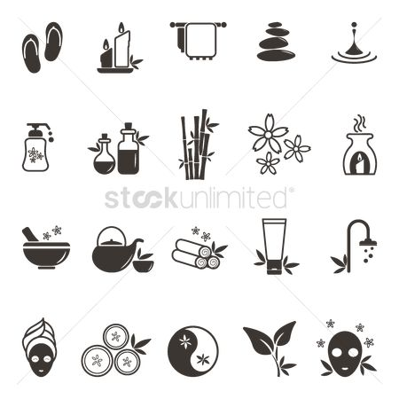 Zen : Set of spa icons