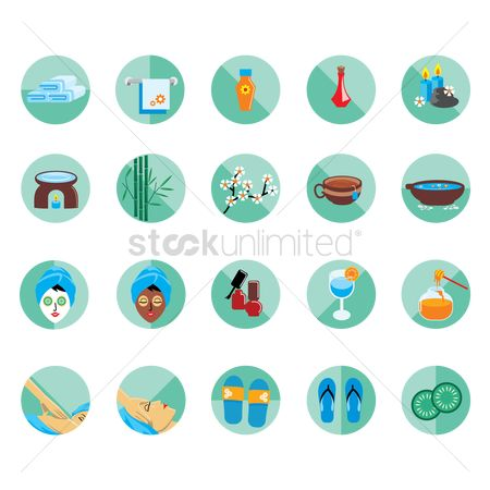 Slippers : Set of spa icons