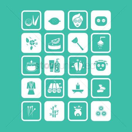 Needle : Set of spa icons