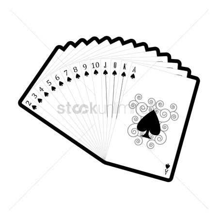 Casinos : Set of spades cards