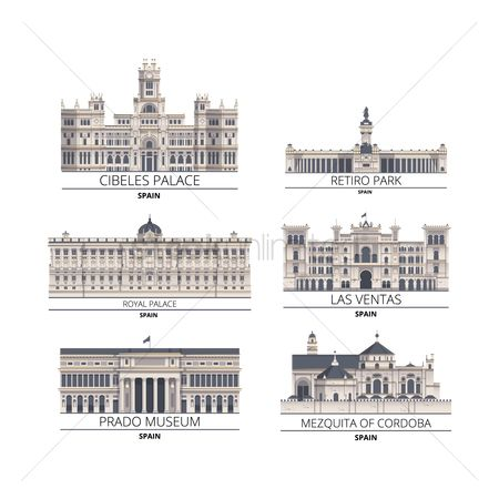 Royal : Set of spain monuments