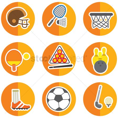 Racket : Set of sport icons