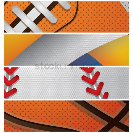 Baseball : Set of sports banners