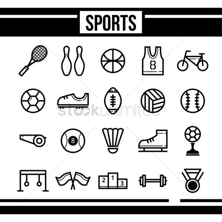 Volleyballs : Set of sports icons