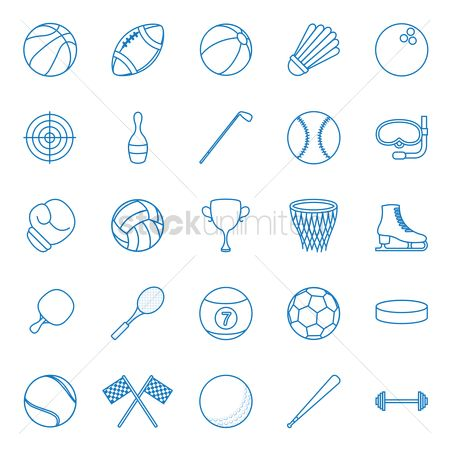 Baseball : Set of sports icons