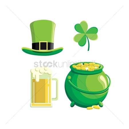 Wealth : Set of st patrick s day icons