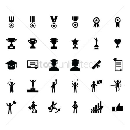 Race : Set of successful icons