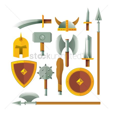 Shield : Set of swords and shields icons
