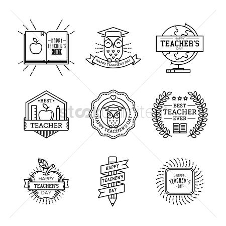 Thankful : Set of teacher s day icons