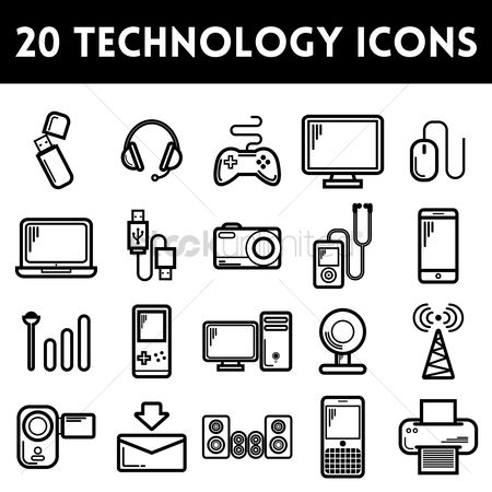 Cpu : Set of technology icons