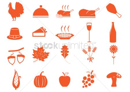 Grapes : Set of thanksgiving icons