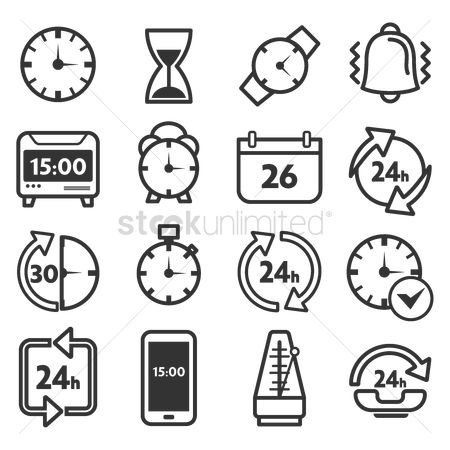 Minute : Set of time icons