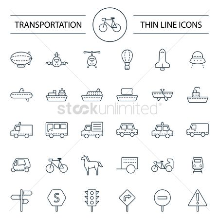 Signages : Set of transportation icons