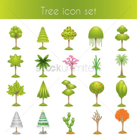 Cactuses : Set of tree icons