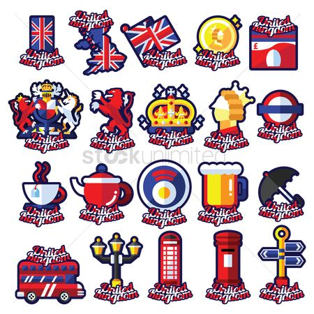 Signages : Set of uk icons