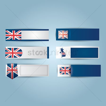 Nationality : Set of united kingdom banners