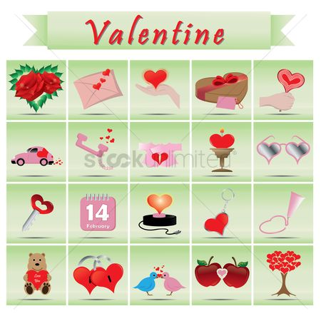 Teddybears : Set of valentines day icons