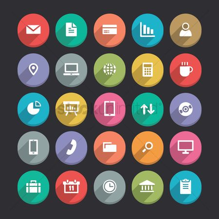 Briefcase : Set of various icons