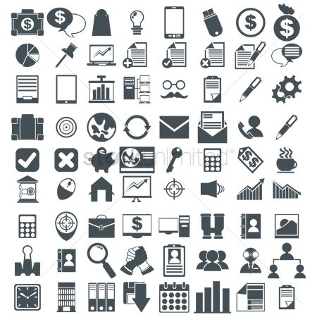 Communication : Set of various icons