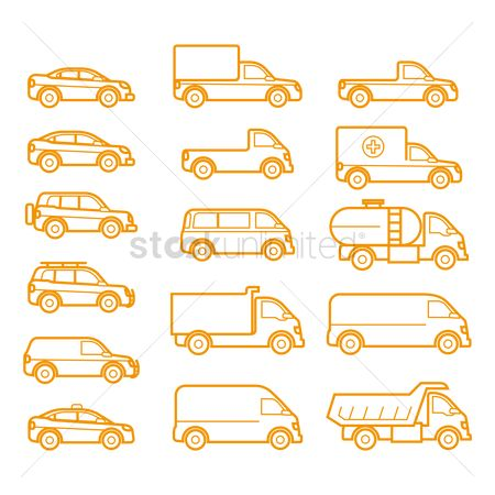 Taxis : Set of vehicle icons