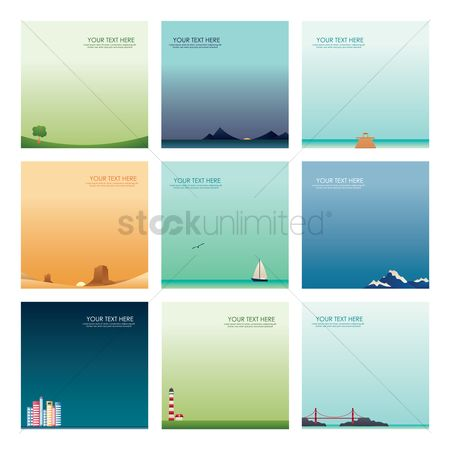 Lighthouses : Set of wallpapers