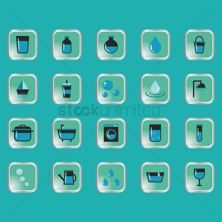 Drippings : Set of water related icons