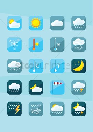 Lighting : Set of weather icons