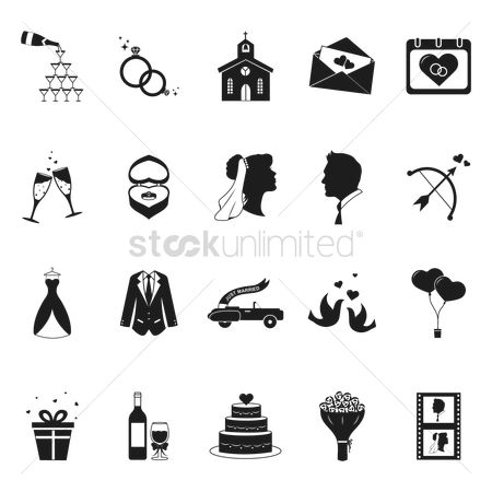 Clothings : Set of wedding icons