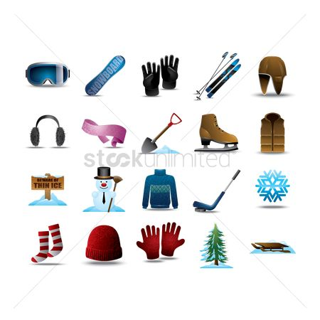 Mitten : Set of winter items