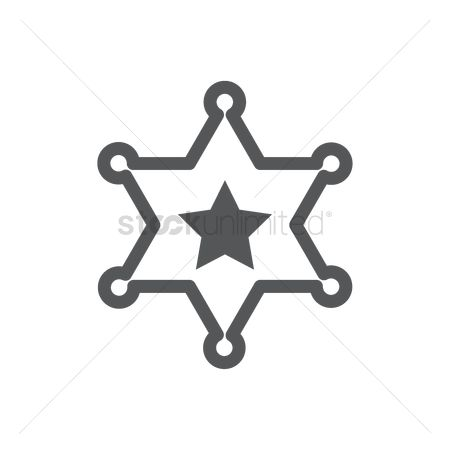 Authority : Sheriff star badge